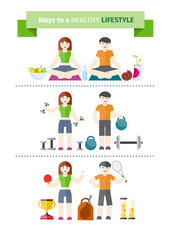 Concept of healthy lifestyle and wellbeing