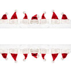 weihnachtsmützen copy space