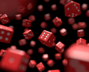 Reds dices falling