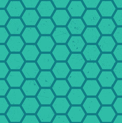 Seamless hexagonal pattern with a grunge texture