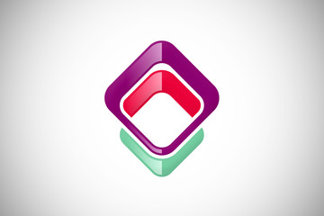 square colorful abstract design logo