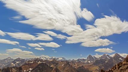 Summer landscape. Clouds blurred. TimeLapse. 4K