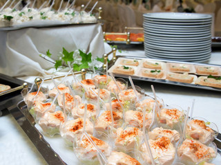 Delicious appetizer canapes