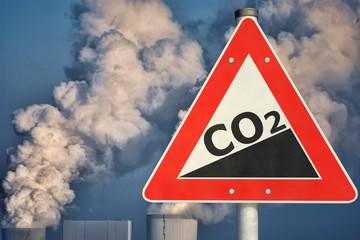 Schild CO2-Anstieg