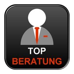 Schwarzer Button: Top Beratung