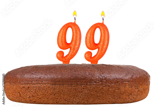 birthday cake candles number 99 isolated Poster