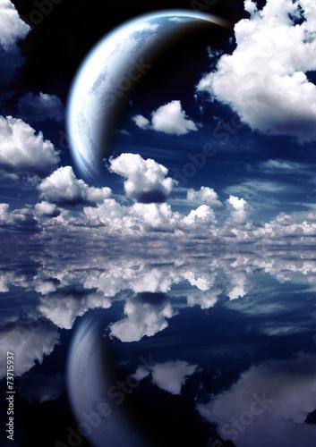 Foto op Canvas Landscape in fantasy planet