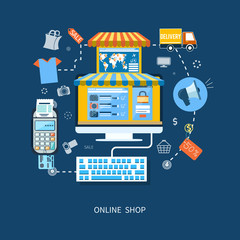 E-commerce infographic concept