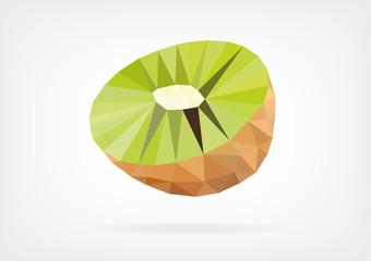 Low Poly Kiwi fruit