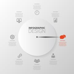 Management planning infographics template. Vector illustration.