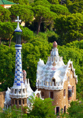 Views from the Parc Guell, Barcelona, Spain