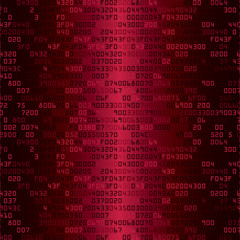 Red security background with HEX-code