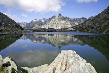 Great St. Bernard Pass, the border between Italy and Switzerland