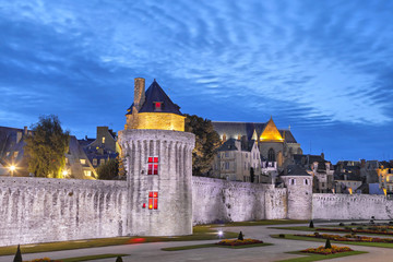 Medieval wall in historical city Vannes