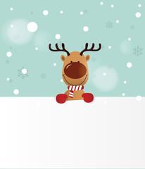 Reindeer holding Board