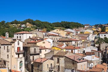 Panoramic view of Cancellara. Basilicata. Italy.