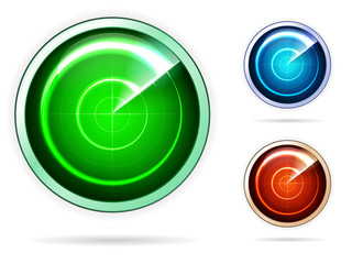 Vector icons for colored radar