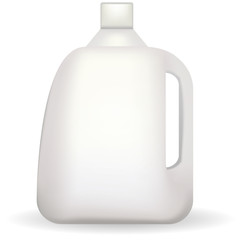 Vector illustration of white plastic bottle