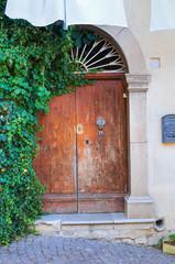 Wooden door. Cancellara. Basilicata. Italy.