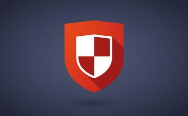 Long shadow shield icon