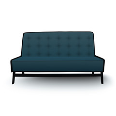Old fashioned divan, sofa isolated