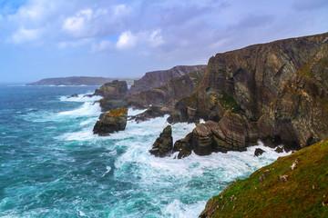 Coastline of Mizen Head in stormy weather, Co. Cork, Ireland