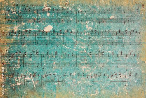 Fototapeta Vintage Background. Vintage Paper. Music Sheet.