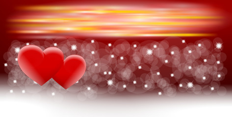 tło 2014 i dwa serca