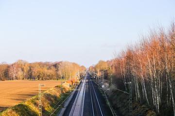 Bahnstrecke bei Bremen