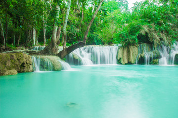 Waterfall in Luagn prabang is Guangxi Waterfall