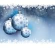 Fond décoration Noël, boules de Noël