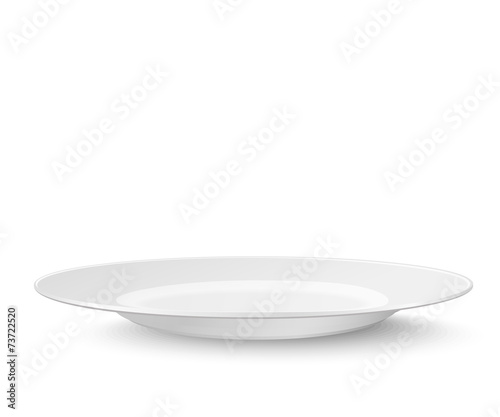 Empty plate isolated on white - 73722520
