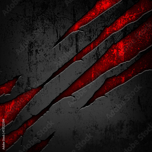Foto op Canvas Metal scratched metal background