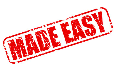 Made easy red stamp text