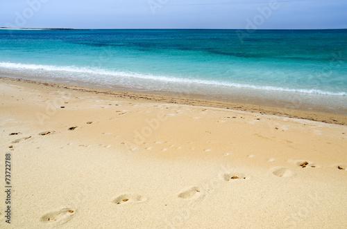 canvas print picture Sardegna, spiaggia di Maimoni, Cabras (Or)