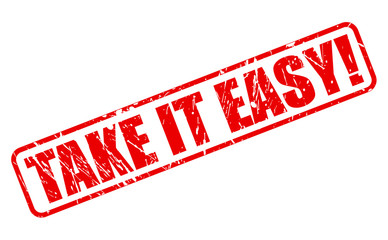 Take it easy red stamp text
