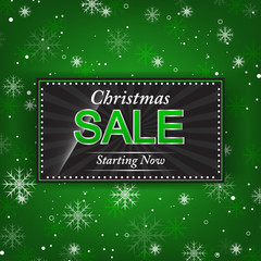 Christmas vector background with sale offer