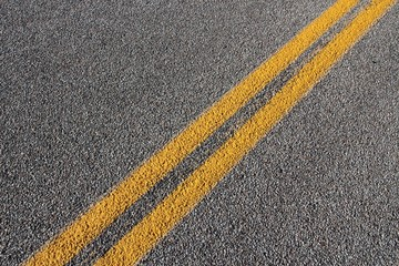 Roadway - blacktop with yellow lines