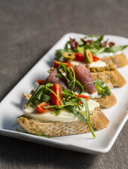 Appetizers on a plate