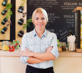 The owner of small restaurant