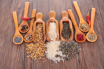 herbs, spices and cereals