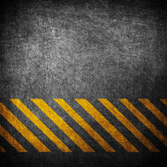 metal plate with yellow stripes