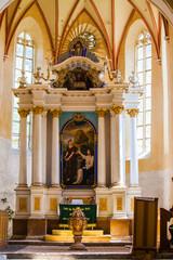 interior saxon church copsa mare transylvania