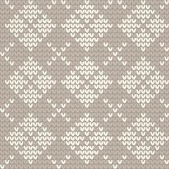 Knitted seamless pattern