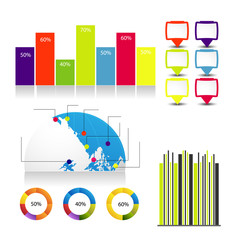 detailed elements of info-graphics with bookmarks
