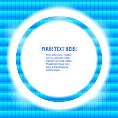round-frame-your-message-bright-blue-mosaic