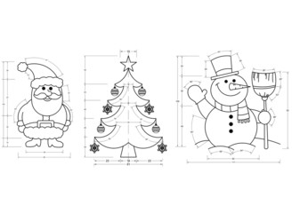 Christmas Symbols Blueprint