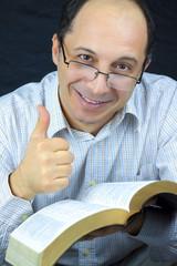 Man Reading Holy Bible