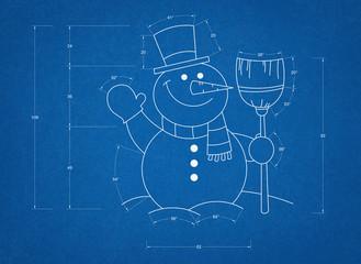 Snowman Blueprint
