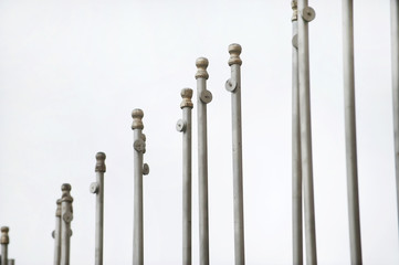 Empty flag poles